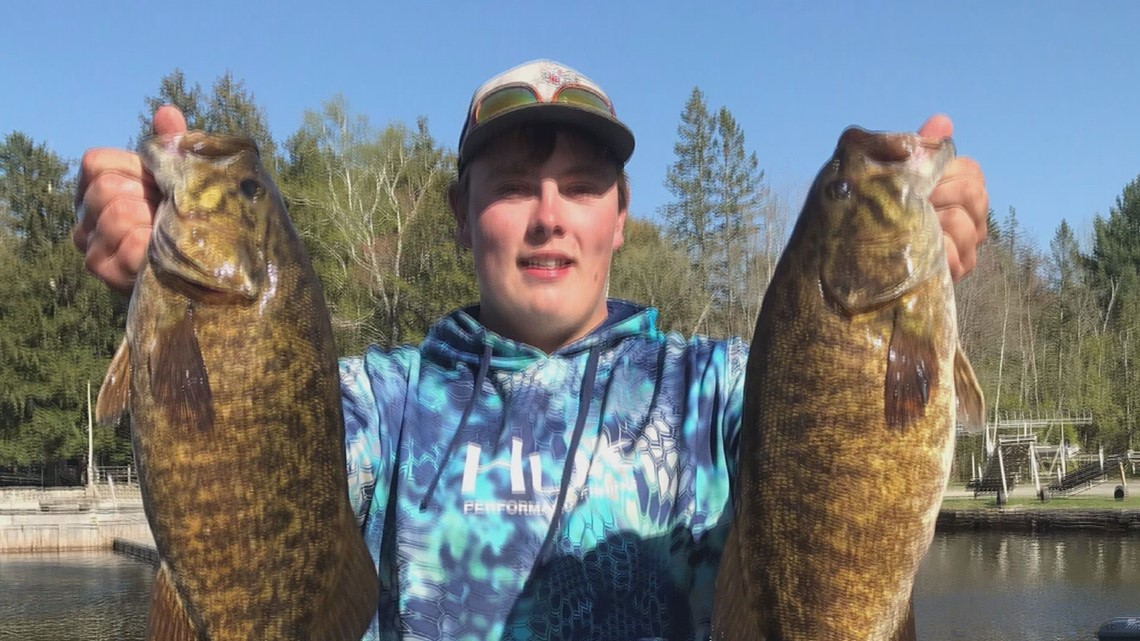 Maine teen catches bass with the best of them