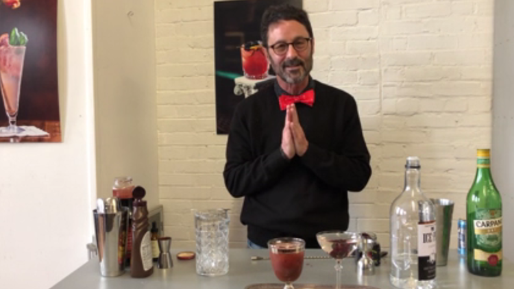 An easy to make cocktail and mocktail for Valentine's Day