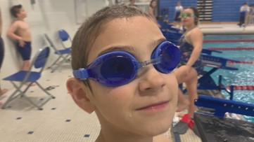 Partially blind Maine swimmer making a splash