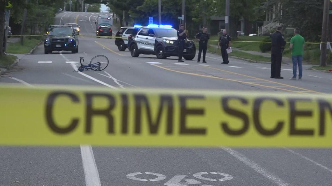 Cyclist hit by car on Washington Ave Friday night