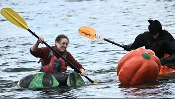 Racing water pumpkins all in good fun in Damariscotta