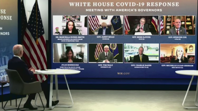 Gov. Mills attends virtual conference with President Biden and state leaders  from across the country