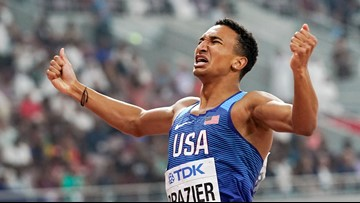 Brazier wins 800 gold, breaks 34-year-old American record