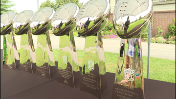 Patriots trophies make their way to Maine for ALS event