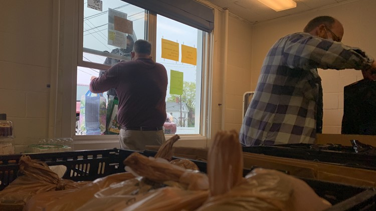 Bangor church hands out boxes of food to serve 300 families a week