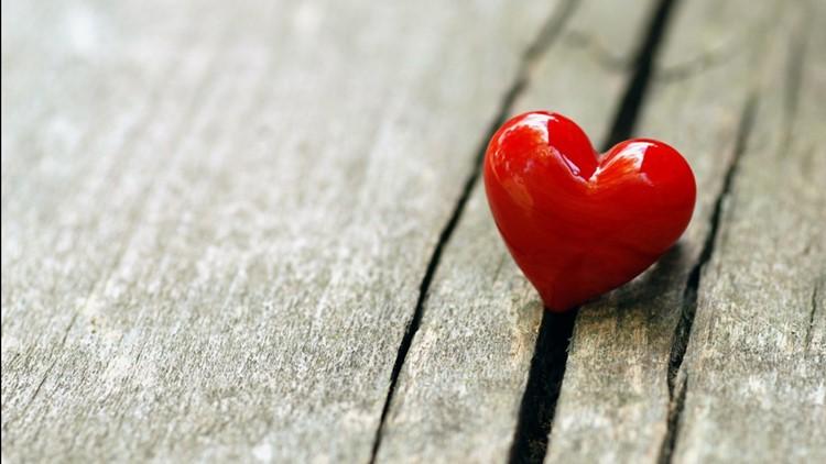 HEART ON TABLE