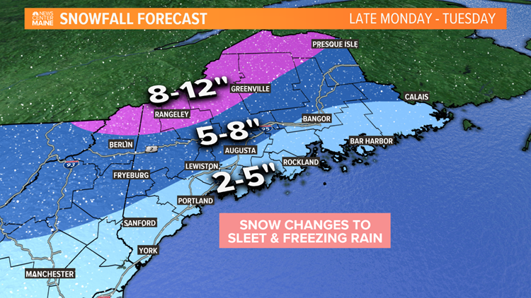 Snow, sleet, freezing rain expected from messy Tuesday storm