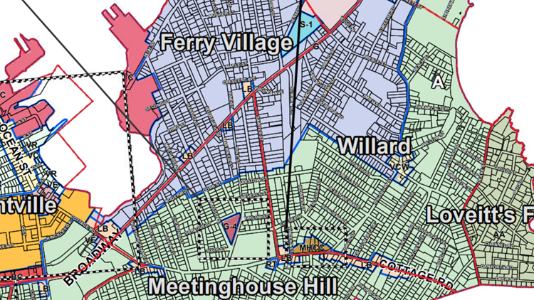 Zoning map of South Portland (2)