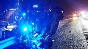 State Trooper injured after tractor-trailer rear-ends his