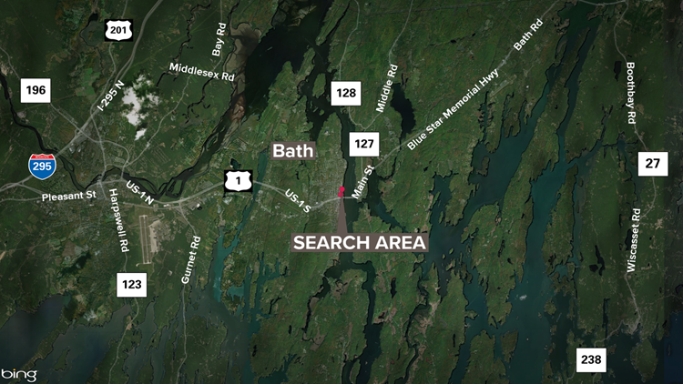 Kennebec search map