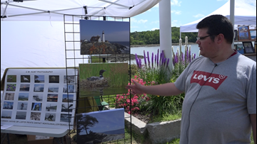 Local artists show off their work in Bucksport