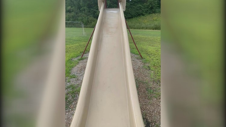 Winterport park slide