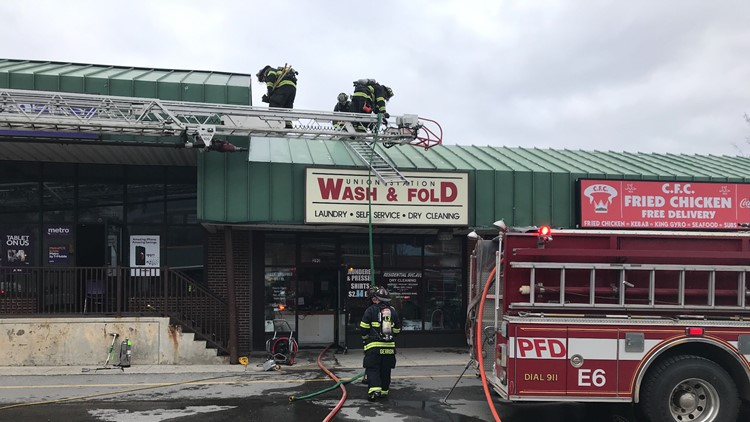 Union Station Plaza Wash and Fold fire