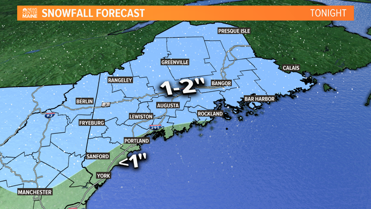 Snowfall forecast tonight