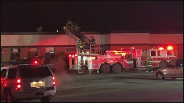 Fire at Westbrook Community Center