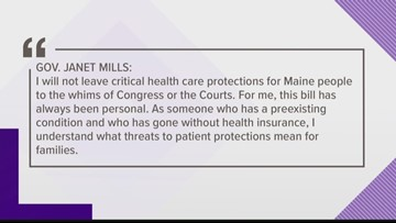 Gov. Mills protects health coverage protections