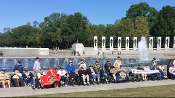 Veterans return from first Honor Flight Maine trip of the year