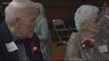 High school sweethearts attend prom decades after their high school graduation