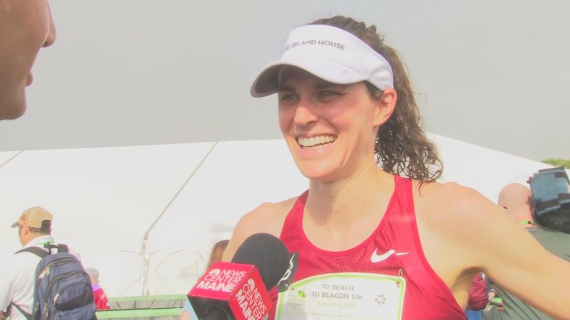 Gold medalist Gwen Jorgensen at Beach to Beacon