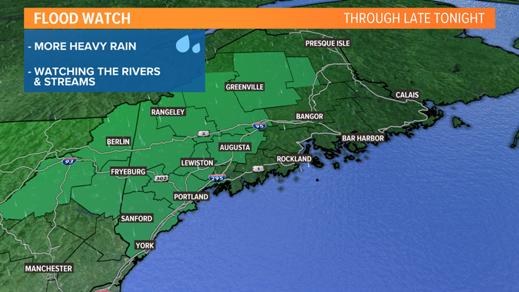 Flood watches until late Saturday night