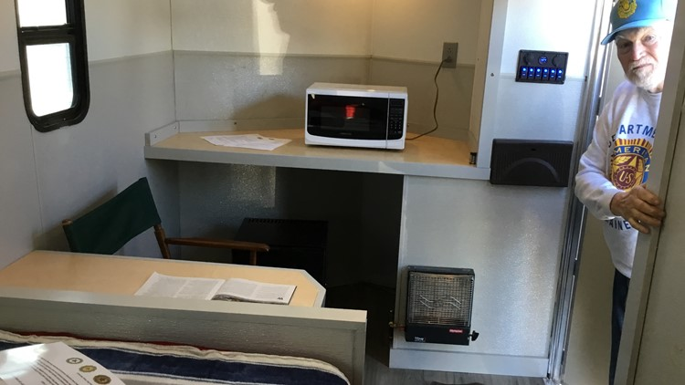 Boothbay veterans create mobile shelter for homeless vets