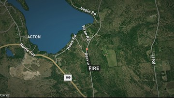 Firefighters attempt to contain large blaze