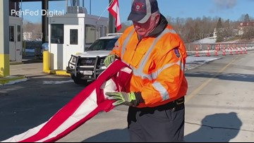 Flag folding Wreaths Across America