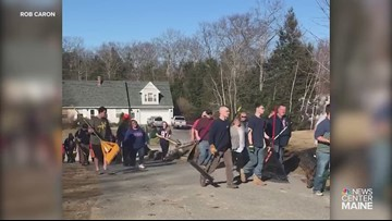 Maine firefighters help family of slain Marine