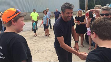 Patrick Dempsey meets two brothers making big impact on Mainers fighting cancer