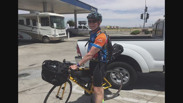 Dean Bingham cycles the East Coast for the MS Society