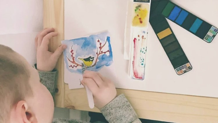 Maine five-year-old selling bird paintings to help fight the coronavirus