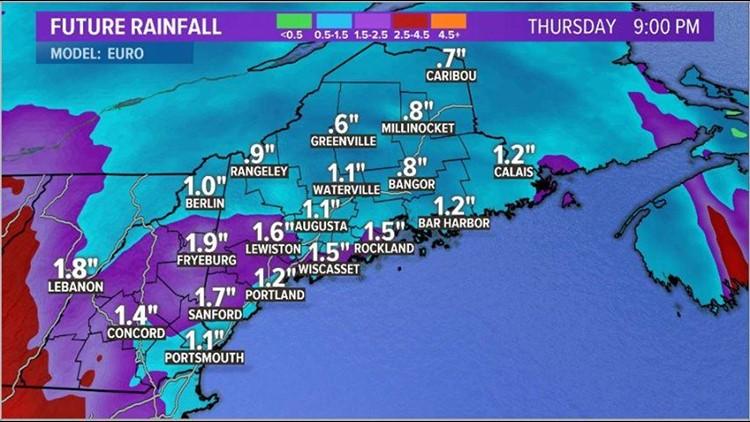 Nor'easter Forecast Rain Totals