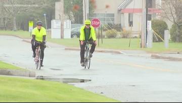 Handling the weather while biking to work