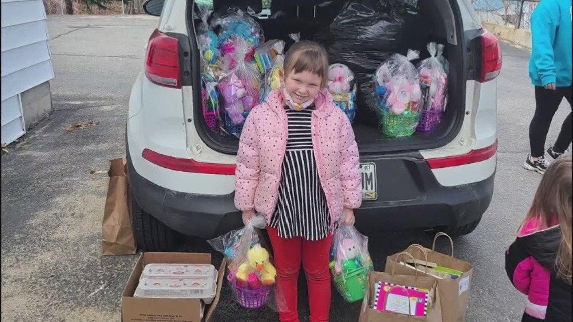 5 year-old helps out homeless kids in Maine with a special Easter delivery