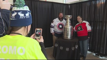 Stanley Cup visits Maine Mariners in Portland