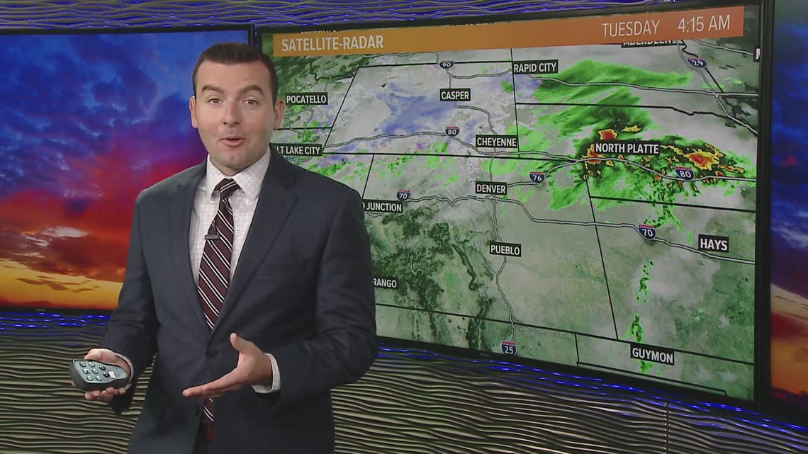 Weather whiplash: 90s to 30s in Denver, with snow expected today