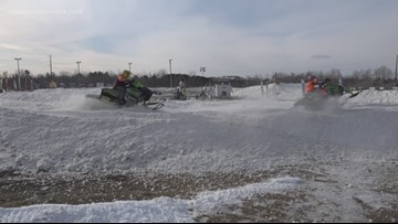 5th annual Snow-Cross weekend event at Hermon's Speedway 95