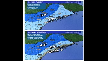 Two rounds of snow: Tuesday, Wednesday | Breton Blog
