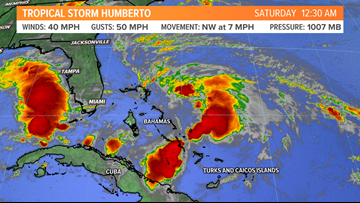 Tropical Storm Humberto: An East Coast Threat?