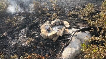 Illegal campfire burns campsite in Acadia National Park