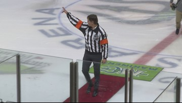 Mariners salute the NHL referee with a Maine pedigree