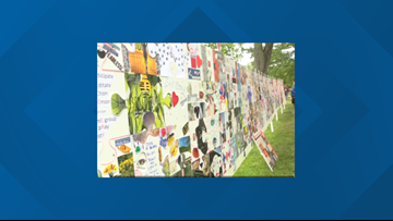 Puzzle wall, sends strong message about addiction recovery