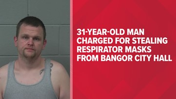Man charged for stealing respirator masks from Bangor City Hall amid the coronavirus pandemic