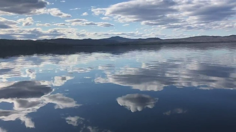 Impossibly calm first of the season boat ride on Mooselookmeguntic Lake, Rangeley.
