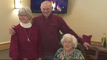 103-year-old mother celebrates her twins birthday who turn 80
