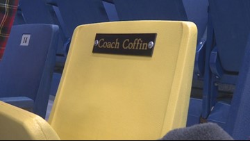 There's one seat you can't sit in at the Augusta Civic Center during tournament time