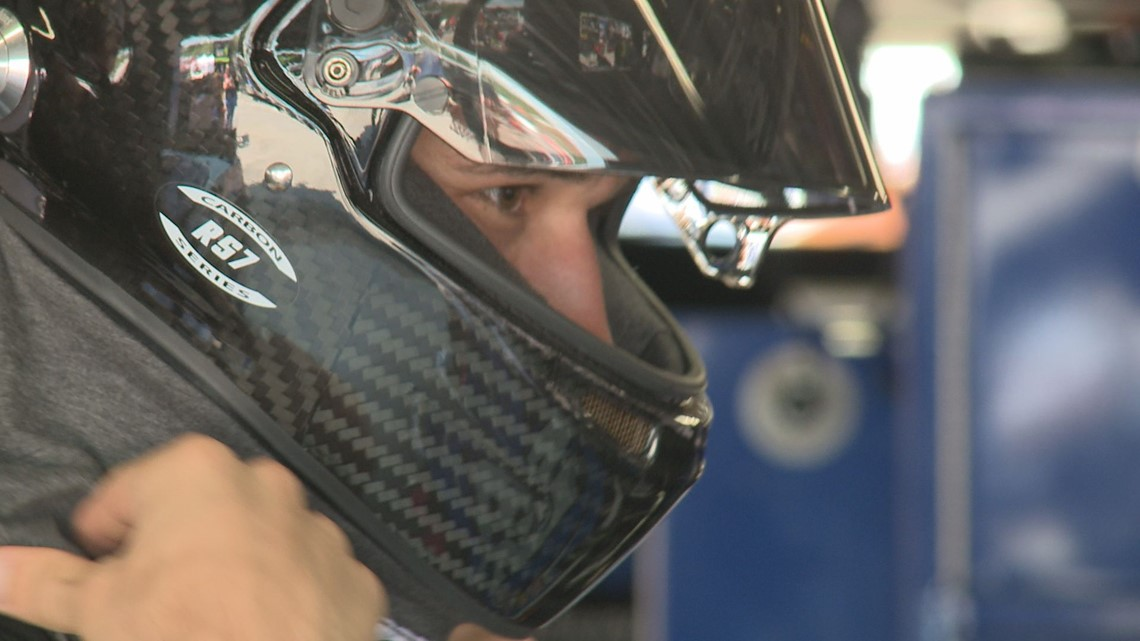 Maine native Austin Theriault takes first laps in NASCAR cup series car