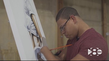 A painter with no hands: How a Texas man turned a challenge into something beautiful