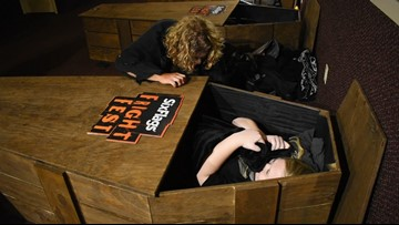 30 hours in a coffin?! Six brave souls say 'sign me up!'