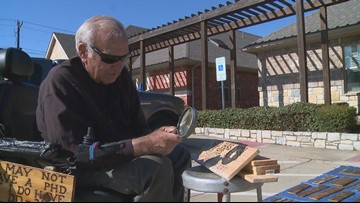 With only a magnifying glass in hand, Texas man credits art hobby for saving his life